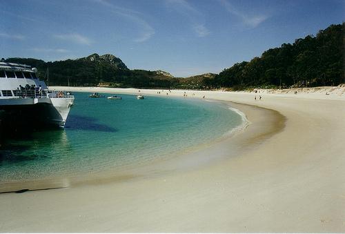 playa de rodas en las islas cies pontevedra